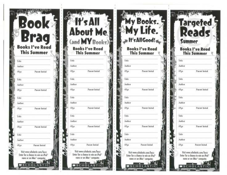 Summer Reading Bookmarks - Welcome to Cal's Library